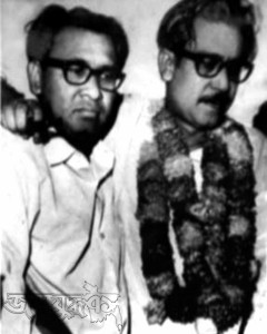 '৬৯ সালে আগরতলা ষড়যন্ত্র মামলা থেকে বের হওয়ার পর তাজউদ্দিনের সঙ্গে শেখ মুজিব