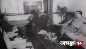 ভারপ্রাপ্ত রাষ্ট্রপতি সৈয়দ নজরুল ইসলাম, ওসমানী এবং ভারতীয় সেনাপ্রধান স্যাম মানেকশ মিত্র বাহিনী নিয়ে চূড়ান্ত আলোচনার পর